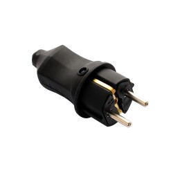 Plug, ERKA 4001, 16А with grounding, straight (rubber)