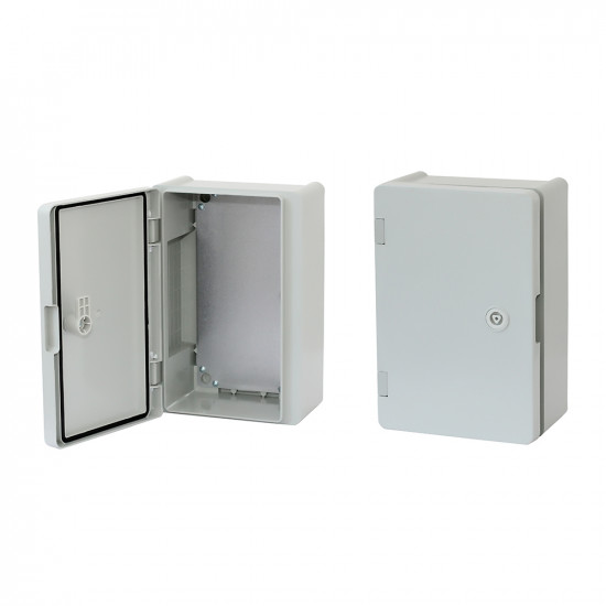 Board ERKA 022, 200x300x120 with mounting panel, opalescent door  IP 65
