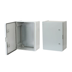 Board ERKA 023, 300x400x180 with mounting panel, opalescent door  IP 65