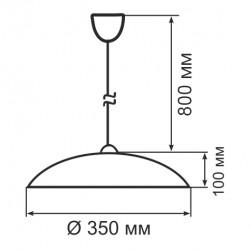 Світильник ERKA 1301, стельовий, 60W, білий, Е27