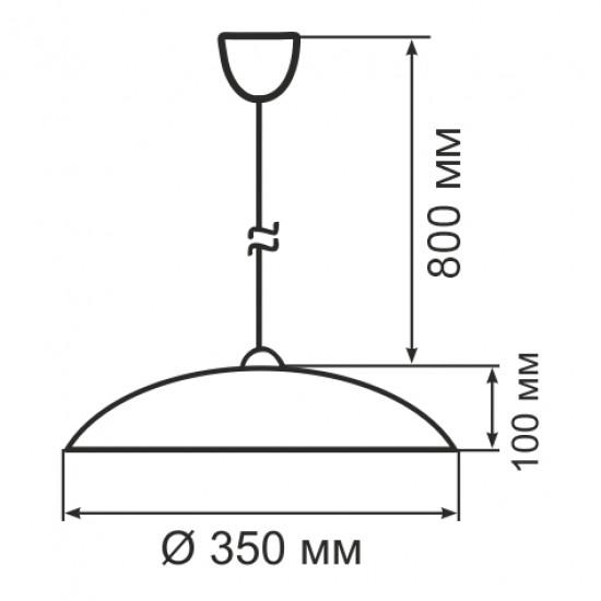 Світильник ERKA 1302, стельовий, 60W, салатовий, Е27
