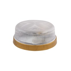 Light ERKA 1102 LED-G,  bulkhead luminaire, 12 W, 6000K, transparent, IP 20