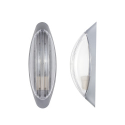Light ERKA 1205D.i-S,  bulkhead luminaire with motion sensor embedded, 26 W, transparent, E27, IP 20