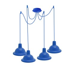 Light ERKA 1303-424, ceiling mounted, 4x60W, 2m, blue, Е27