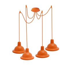 Light ERKA 1303-424, ceiling mounted, 4x60W, 2m, orange, Е27