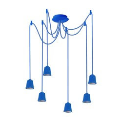 Light ERKA 616, ceiling mounted, 6x60W, 1m, blue, Е27