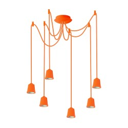 Light ERKA 616, ceiling mounted, 6x60W, 1m, orange, Е27