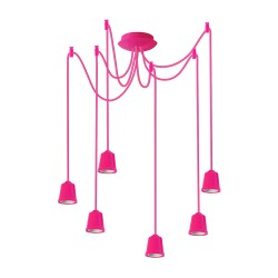 Light ERKA 626, ceiling mounted, 6x60W, 2m, pink, Е27