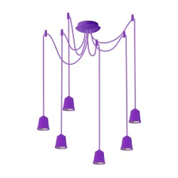 Light ERKA 616, ceiling mounted, 6x60W, 1m, purple, Е27