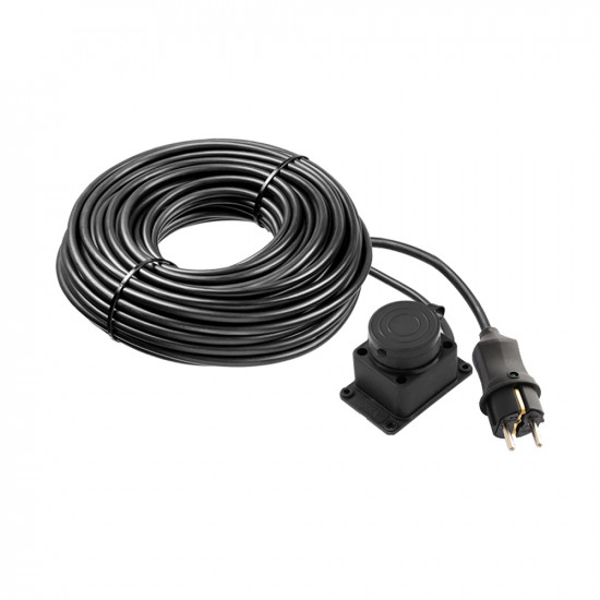 Rubber extension cord with grounding and cap ERKA 5025, 16А, 25m